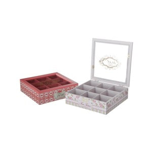 Zestaw 2 pudełek na herbatę Rosa