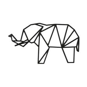 Czarna dekoracja ścienna Dekorjinal Pouff Elephant, 65x38cm