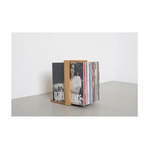 Stojak na płyty winylowe z drewna dębowego das kleine b Vinyl Rack, 26x35 cm