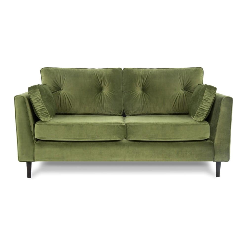 Zielona sofa trzyosobowa VIVONITA Portobello