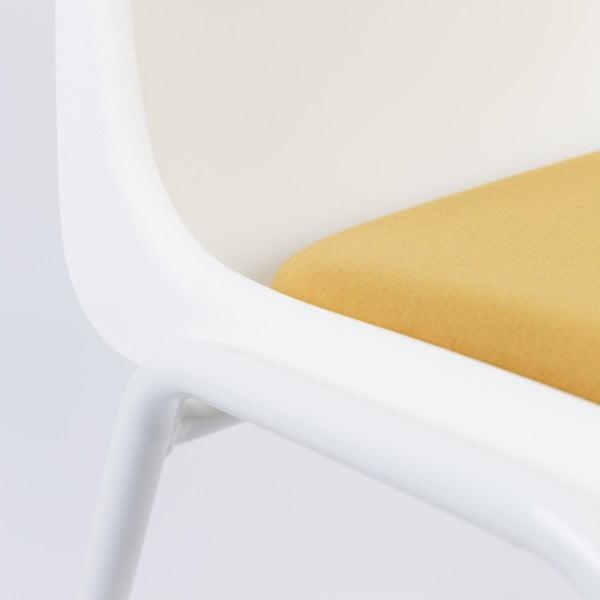 Krzesło Back to Gym, biało-żółte