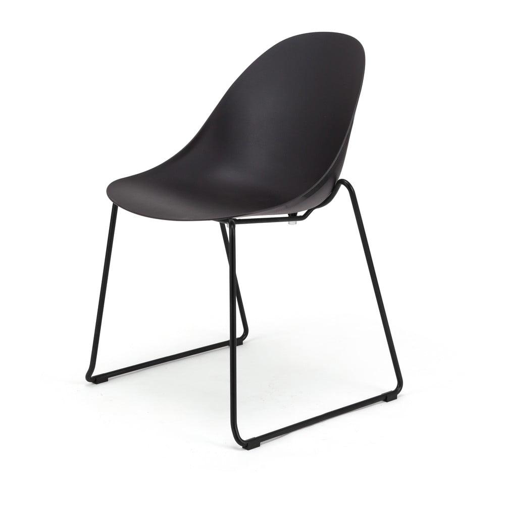 Zestaw 2 czarnych krzeseł Le Bonom Viva