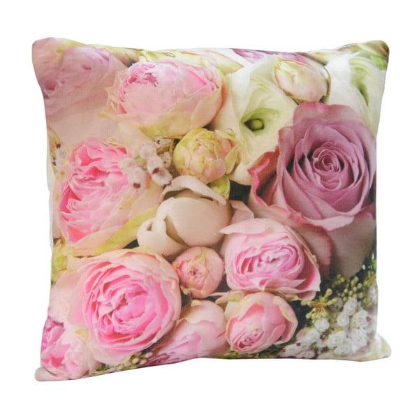 Poduszka Pink Flowers, 45x45 cm