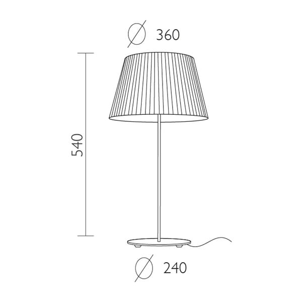 Czarna   lampa stołowa Bulb Attack Dos Plisado,⌀36cm