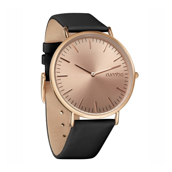 Zegarek damski SoHo Leather Rose Gold Black