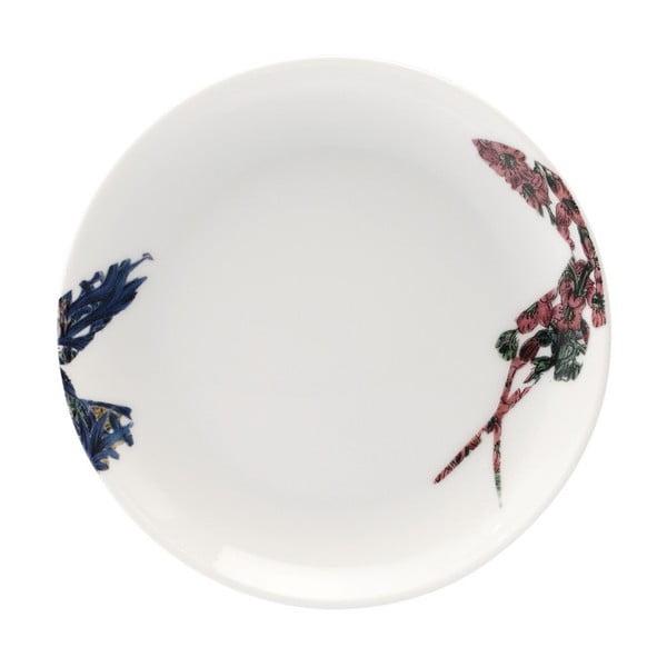 Zestaw 4 porcelanowych talerzyków deserowych  Flutter, 14 cm