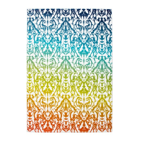 Dywan Aztec 492 biały/zielony, 80x150 cm