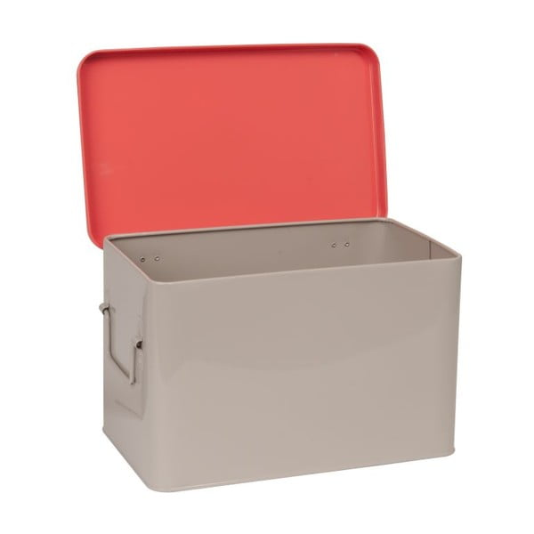 Zestaw 2 metalowych pojemników Warm Colour