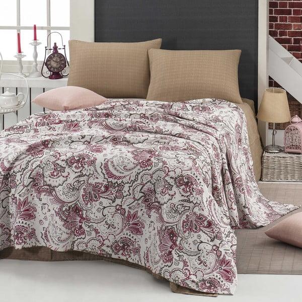 Narzuta z prześcieradłem i poszewką na poduszkę Firuze, 200x235 cm