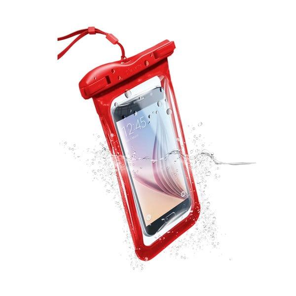 Etui na telefon, wodoszczelne, uniwersalne Cellularline VOYAGER, czerwone