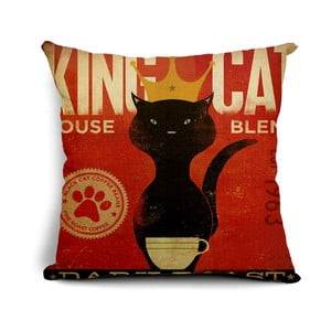 Poszewka na poduszkę King Cat, 45x45 cm