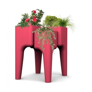 Designerska doniczka KIGA Medium 88x68 cm, czerwona