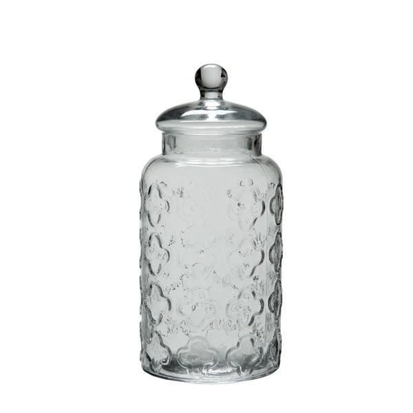 Szklany pojemnik Jar Flower 32 cm