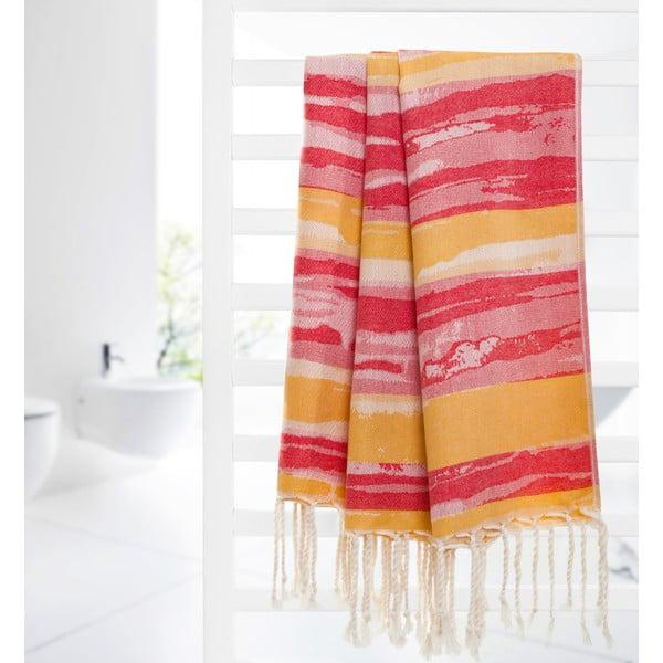 Ręcznik hammam Brush, pomarańczowy