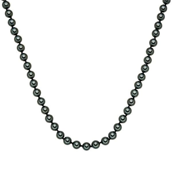 Perłowy naszyjnik Muschel, zielone perły 8 mm, długość 60 cm