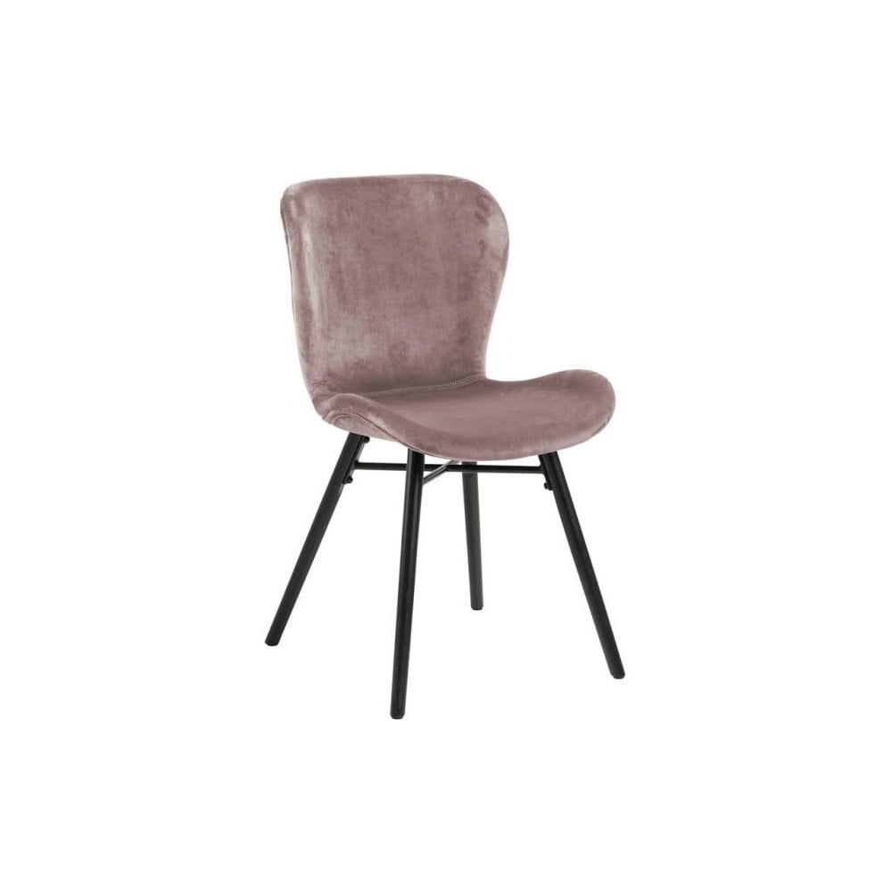 Pudrowe krzesło Actona Batilda