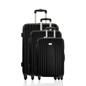 Komplet 3 walizek Valises Avec Black