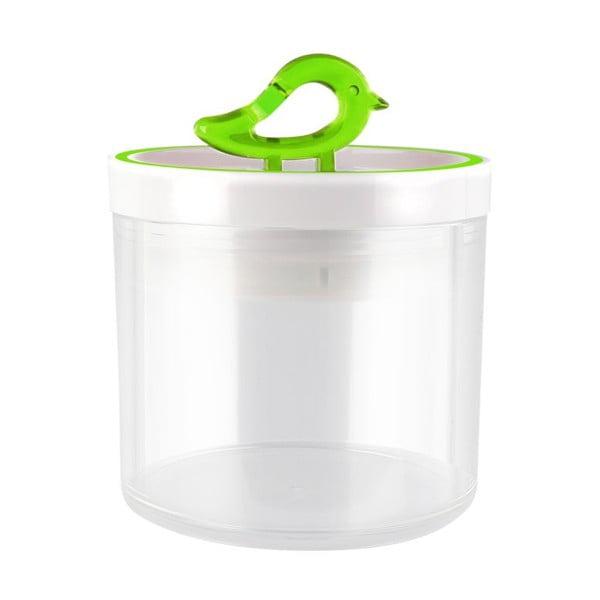 Przezroczysty pojemnik z zielonym detalem Vialli Design Livio, 0,4 l