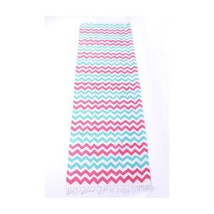Dywan La Finesse Zig Zag Blue/Pink, 70x200 cm