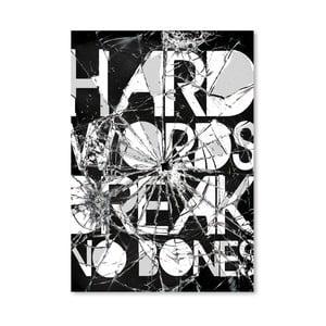 """Plakat autorski """"Hard Words"""""""