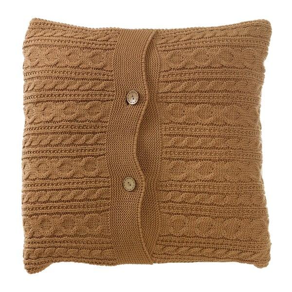 Dziergana poduszka z wypełnieniem Cacao