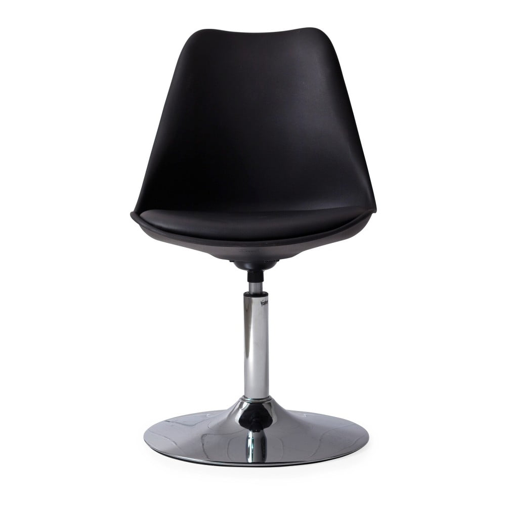Czarne krzesło z czarną poduszką Tenzo Tequila