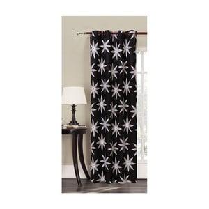 Czarna zasłona we wzory z mikrowłókna DecoKing Alpin, 140x245 cm