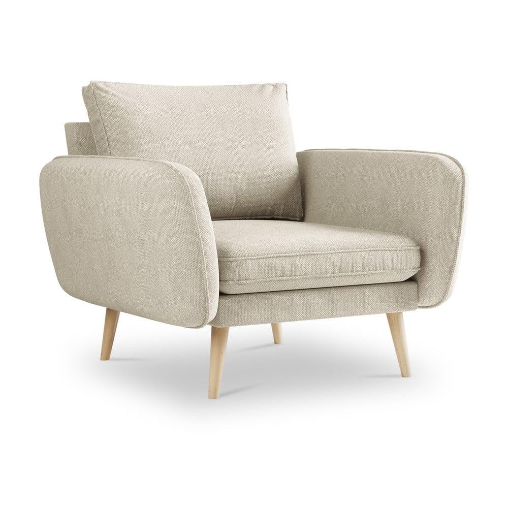 Beżowy fotel Kooko Home Lento