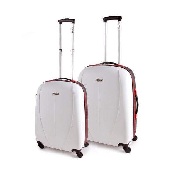 Zestaw 2 walizek Tempo, biały