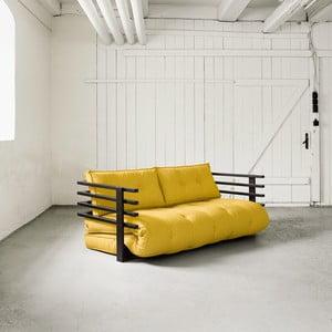 Sofa rozkładana dwuosobowa Karup Funk Black/Amarillo