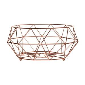 Geometryczny złoty koszyk na owoce Premier Housewares Vertex