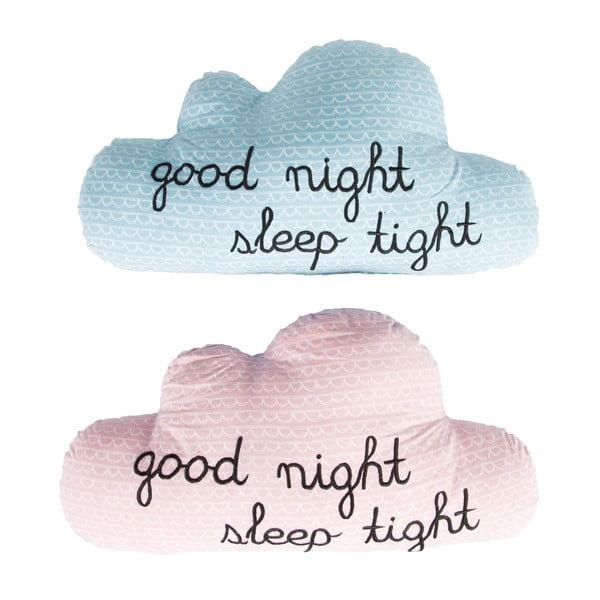 Niebieska poduszka Sass & Belle Good Night