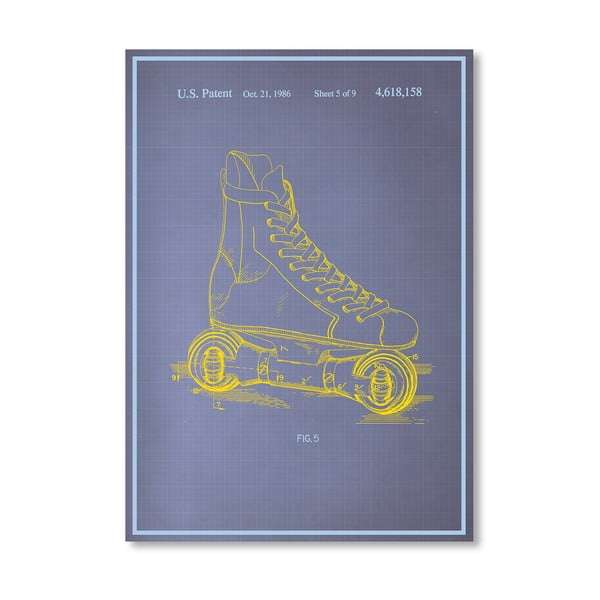 Plakat Rollerskates, 30x42 cm