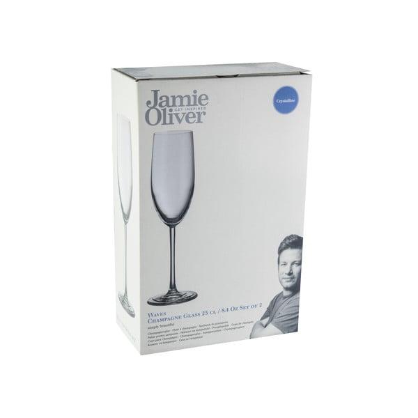 2 kieliszki do szampana Jamie Oliver Waves, 250 ml
