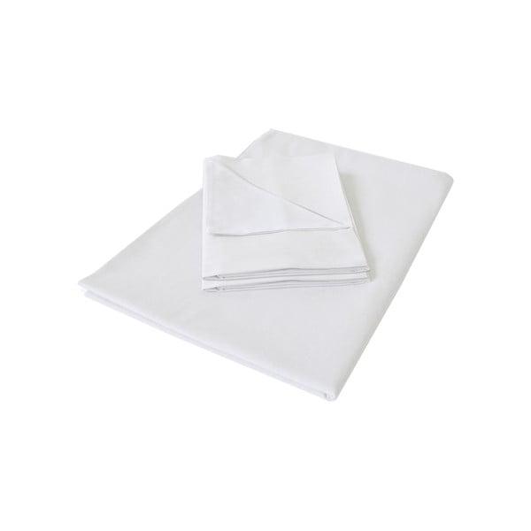 Biała pościel Hawke&Thorn Parker Simple, 240 x 220 cm+ 2 x poduszka 50 x 60 cm