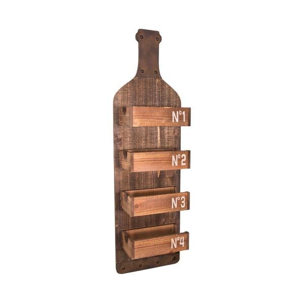 Półka drewniana z uchwytami na butelki Antic Line Bottle
