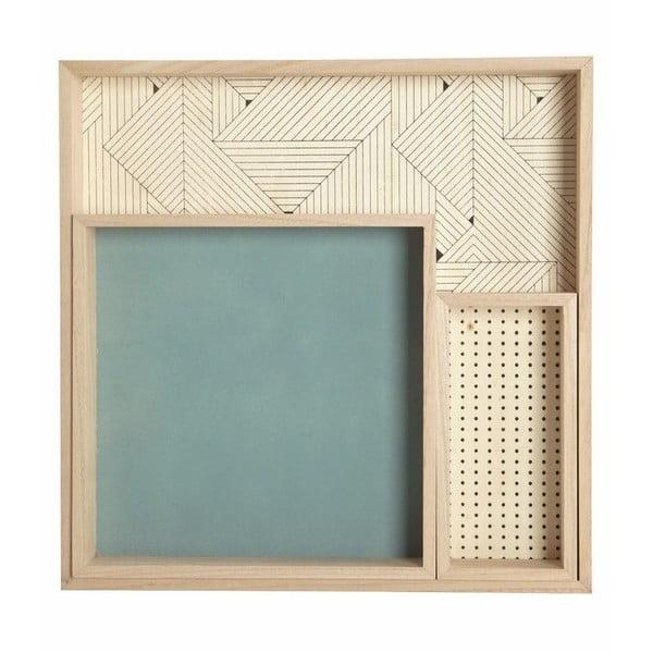 Komplet 3 tac drewnianych Deco
