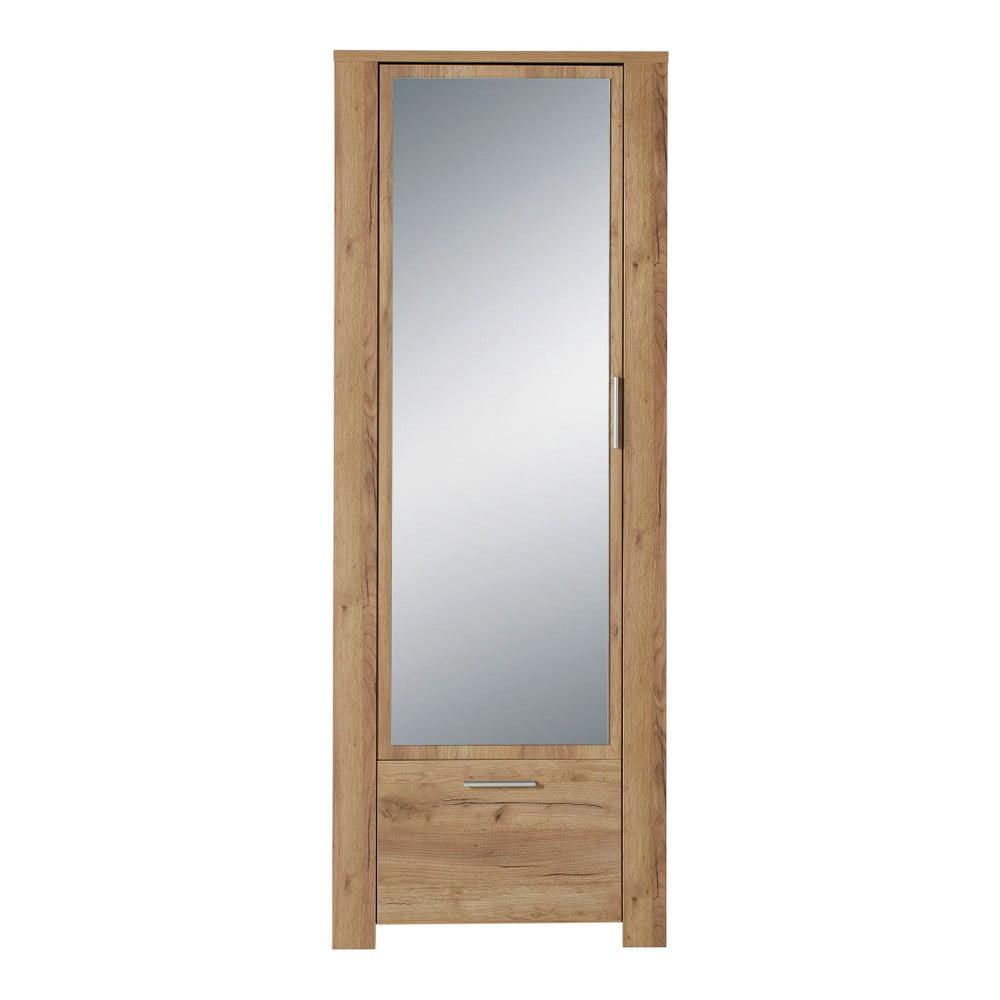 Szafa z dekorem drewna dębowego z lustrem Germania Castera