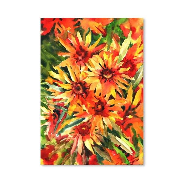 Plakat Orange Flowers (projekt Suren Nersisyan)