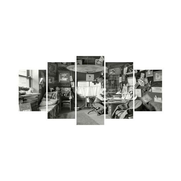 Wieloczęściowy obraz Black&White no. 94, 100x50 cm