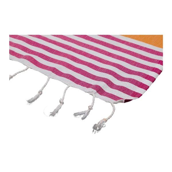 Ręcznik hammam Ellis Orange Fuchsia, 100x180 cm
