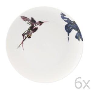 Zestaw 6 porcelanowych talerzy Flutter, 21 cm