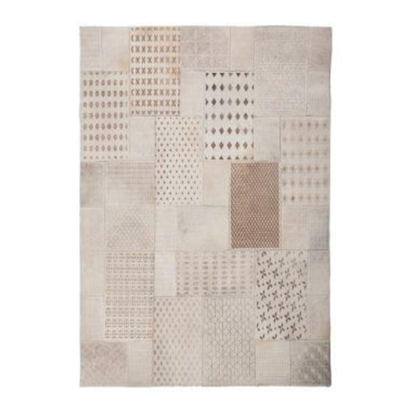 Biały skórzany dywan Ray,160x230cm