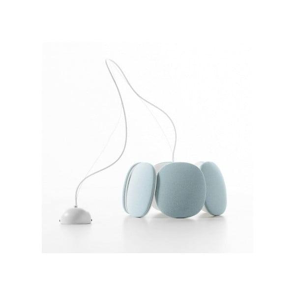 Lampa sufitowa Bloemi, jasnoniebieska, 40 cm