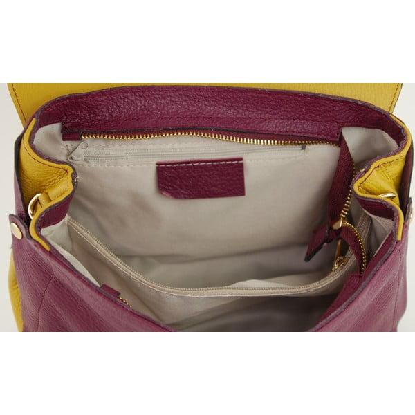 Skórzana torebka Cherie Vino/Senape