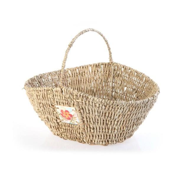 Wiklinowy koszyk Wicker Flower, 40 cm