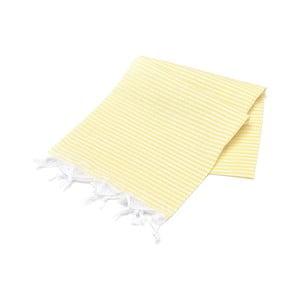 Żółty ręcznik Hammam Sarayli, 100x180cm