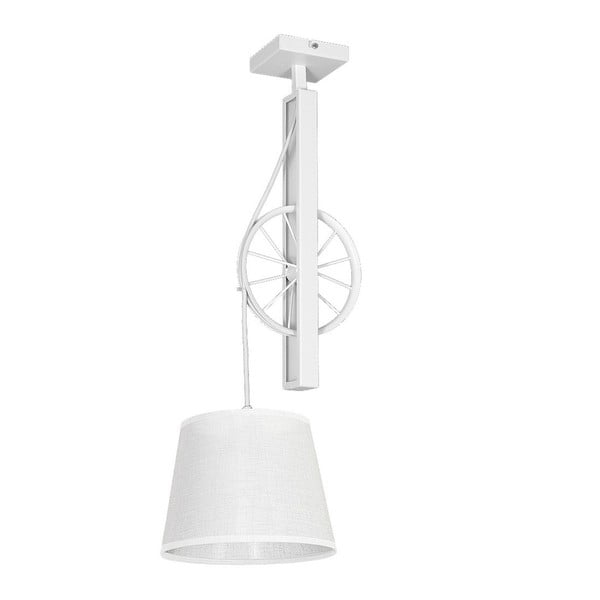 Biała lampa wisząca Hydrus