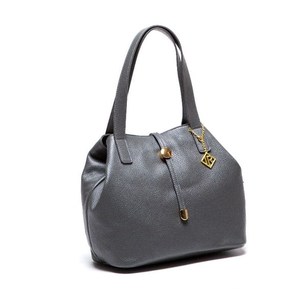 Skórzana torebka Isabella Rhea 1116 Grigio