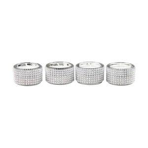 Zestaw 4 świeczników CIMC Diamante Tealight